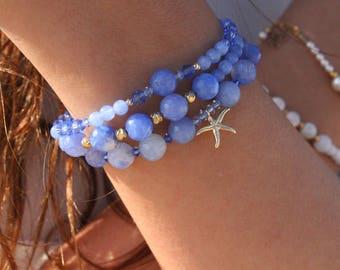 Ocean Blue Trio bracelets