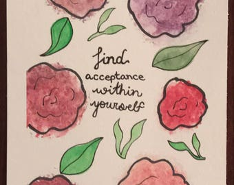 Find acceptance within yourself quote