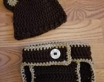 Crochet baby bear outfit 0-3 months