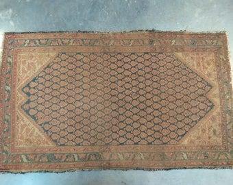 Distressed Antique Persian Rug