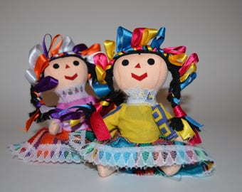 Set of 2 rag doll