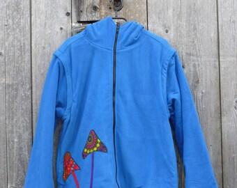 Jacket / waistcoat magic mushroom design magic pilze mushrooms Goa Nepal psytrance psychedelic trip