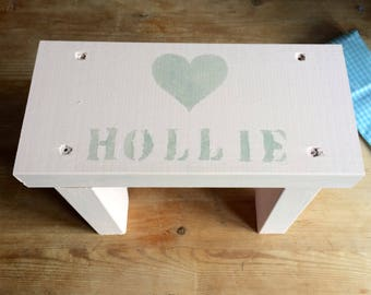 Personalised Wooden Stool