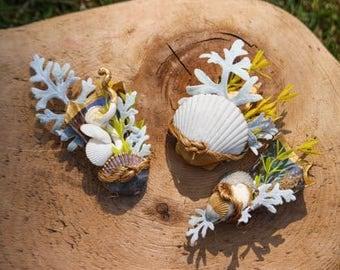 Unique Gold Sea Shell Boutonniere