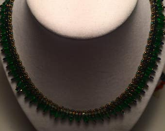 Emerald Green Egyptian Necklace