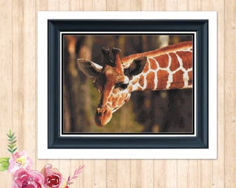 Georgie the Giraffe Counted Cross Stitch Pattern