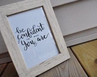 Custom Handwritten Quote Frame