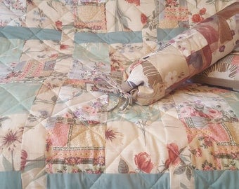 Delicate Quilted Bed cover, Bedspread, Patchwork, Home Decor