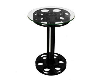 Home Theater Movie Reel Table - Cinema Film Reel End Table - VARIOUS Finishes