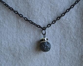 Diffuser Necklace - Lava Stone and Swarovski - Ready To Ship