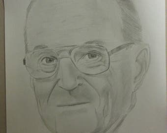 "custom portrait drawing 8.5"" x 11"""