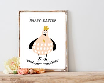 Happy easter greating card, Easter Wall Home Decor