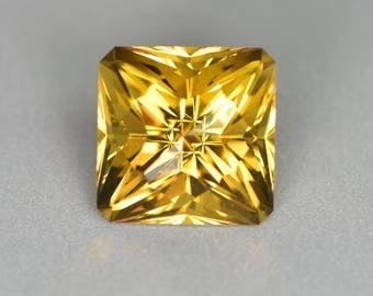 Designer Cut Rradiant Citrine Gemstone, 11.92ct.
