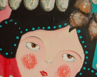 Painting Little Girl 4