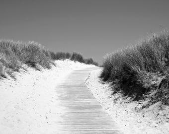 Sand Dunes; black and white photography; black and white wall art; black and white print; black and white; beach photo; beach photography