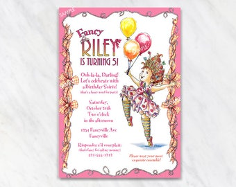 Fancy Nancy Invitation for Birthday Party - Printable Digital File