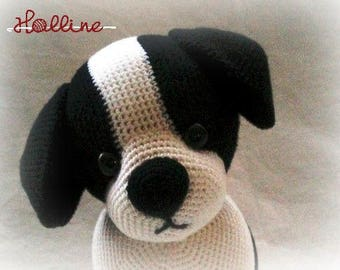 PDF pattern Jed the Puppy crochet amigurumi, English and Dutch