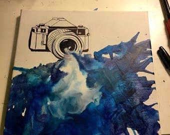 Melted Crayon Camera Art