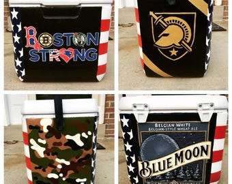 28 Qt Custom, Personalized, Hand-Painted Cooler