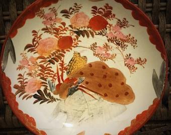 A super Japanese hand painted Kutani plate