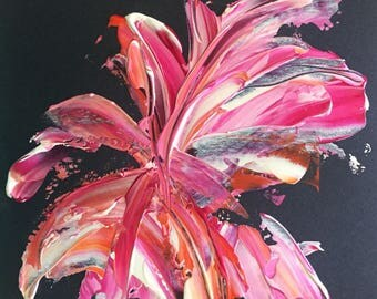 Floral // original abstract acrylic painting