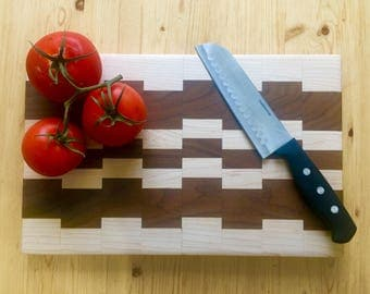 Handcrafted Walnut and Maple Cutting Board