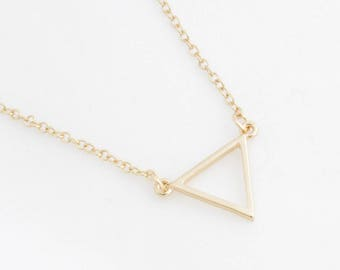 """Trapeze Necklace """"Triangle"""" gold"""