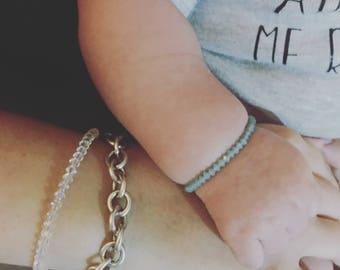 Mommy & me Swarovski crystal bracelet