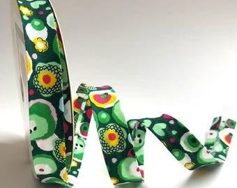 Bias Binding Green Tie-Dye Print 18mm 3 meter length