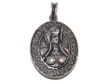 Valkyrie / Freya Norse Viking Pewter Pendant