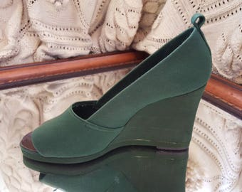 Vintage Russell & Bromley Wedge Shoes
