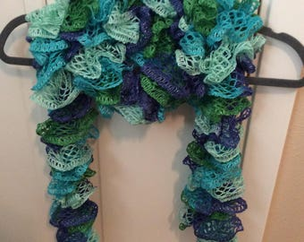 Blues and greens scarf
