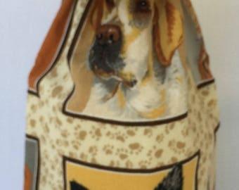 Wine Bottle Gift Bag / Dogs