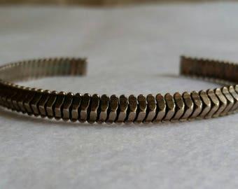 Vintage Textured Sterling Silver Cuff Bracelet