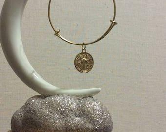 Saint Benedict bangle bracelet