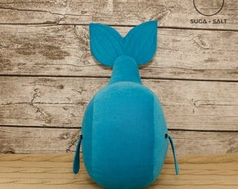 """Fabric figure Wal """"Charles the great"""" Turquoise"""