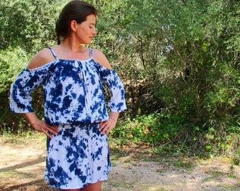 Bali dress, open shoulders dress