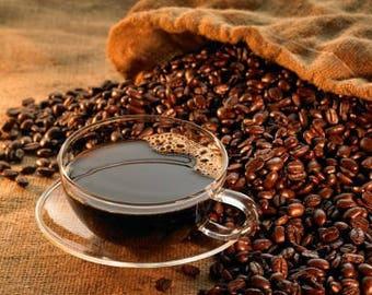 Freshly roasted organic fair trade coffee beans (Guatemalan)