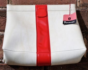 70s Red and white Clutch