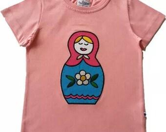 Short sleeve Russian doll t-shirt