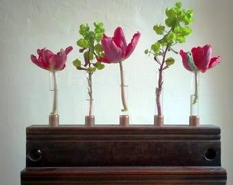 Reclaimed Test Tube Vase & Candle Holder