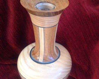 Turned multi wood bud vase