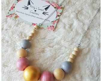 Lily Necklace - Hand Painted