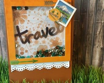 Travel Sequins Handmade Shaker Card