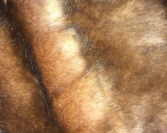 Golden Brown Faux Fur