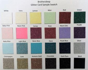 10 x A4 Soft Touch Glitter Card