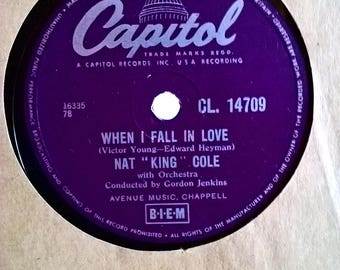 When I Fall In Love-Calypso Blues Nat King Cole 78rpm