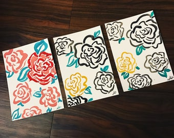 Late Night Blooms (only red/pink available)
