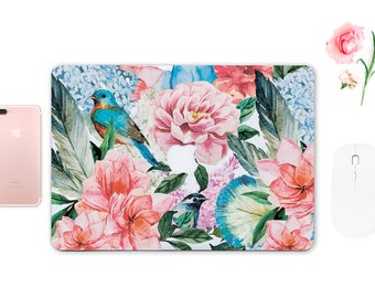 Flowers Decal Macbook Pro 13 Skin Floral Skin Laptop Decal Keyboard Sticker Sleeve for Macbook Case for Macbook Red Decal  ESD033