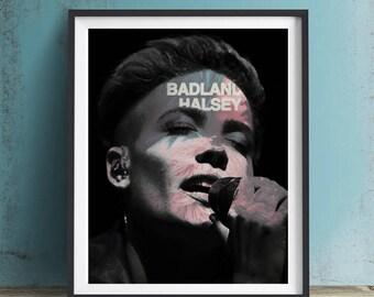 Halsey Art Print or Canvas, Wall Art, Artwork, Gift